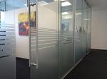 Glasbeschichtung,Diskretion, Büro, Sandstrahlfolie