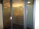 Glasbeschichtung,Diskretion, Ausstellungsraum, Sandstrahlfolie