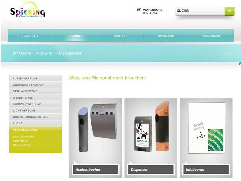 Werbemittel und Displaysysteme im Online-Shop von Spiering Werbung