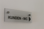 Acrylschild, Wegweiser, Acrylwegweiserm Hinweissschild, Toilette, WC